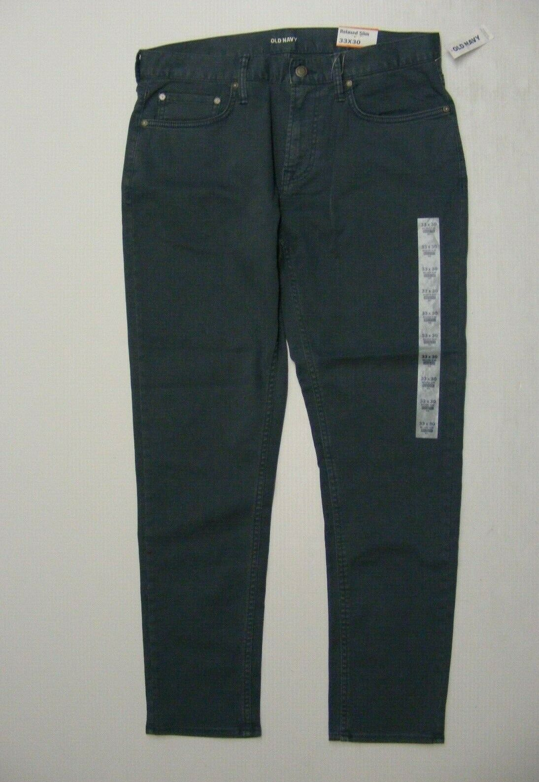 Old Navy Relaxed Slim Jeans Mens Size 33X30 Winter Waters Built In Flex Max NWT