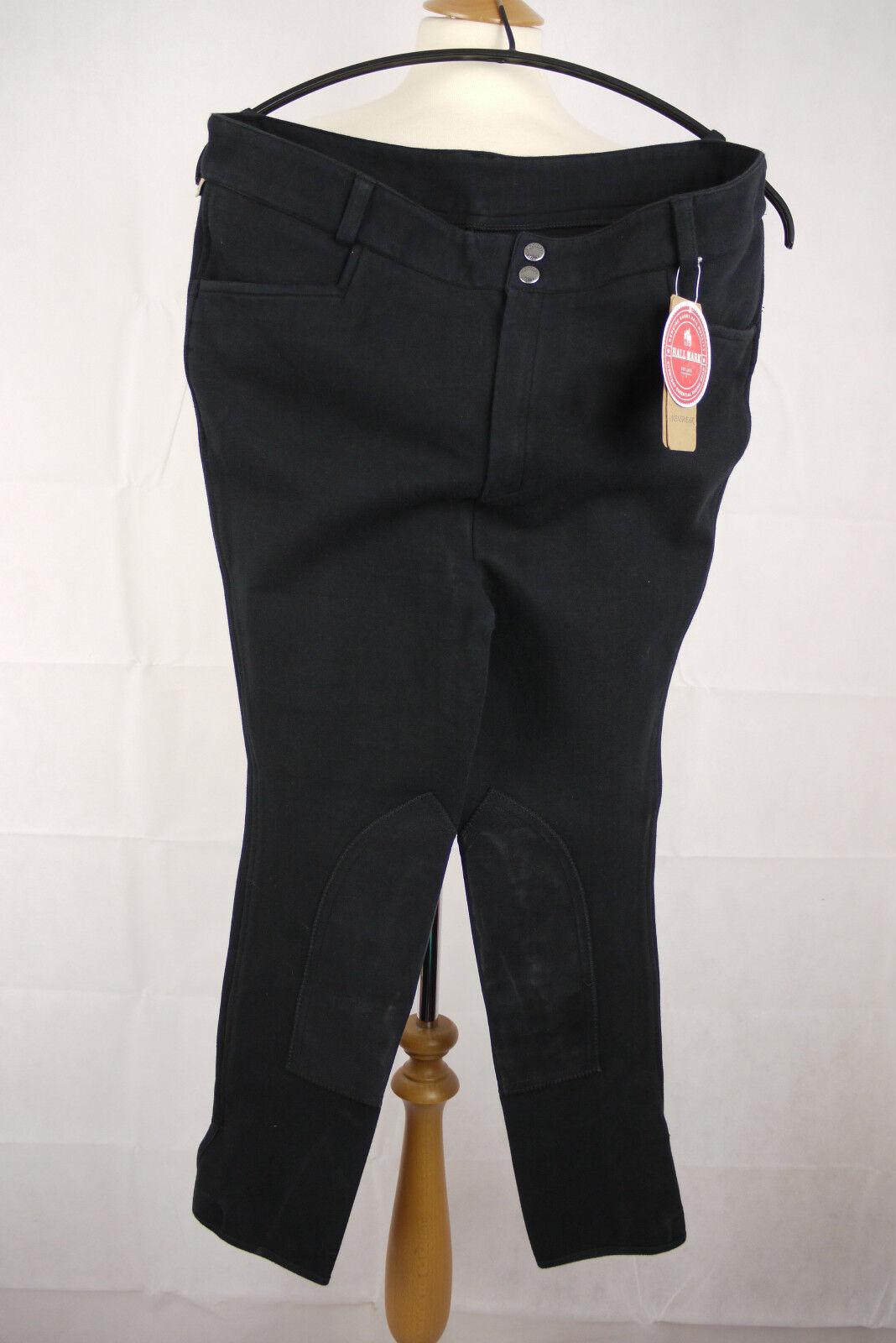 Harry HALL BURFORD para hombres Calzones tamaño 38 Reg. Color Negro