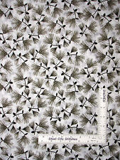 Pine Cone Fabric - Pine Needle Branch Cone Quilting Treasures Native Pine - YARD