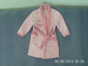 Girls-4-5-Years-Pink-Fleece-Dressing-Gown-Upsy-Daisy-Night-Garden