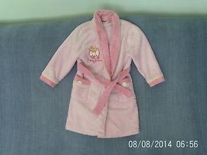 Girls-4-5-Years-Pink-Fleece-Dressing-Gown-Upsy-Daisy-Night-Garden