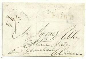 1846-RARE-RED-PAID-1d-RHYNIE-ABERDEENSHIRE-UPP-LETTER-EX-WHITE-HILL-gt-ABERDEEN