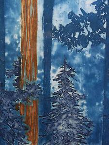 A. Walker (xx) Oregon Lithographie Originale Numérotée 20/70 Neo Impressionnism