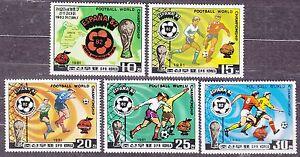 KOREA-Pn-1981-MNH-SC-2027-31-set-World-Soccer-Cup-Championship-ESPANA-82