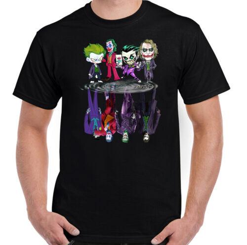Mens Batman Suicide Squad Heath Ledger Villain Unisex Tee Top THE JOKER T-SHIRT