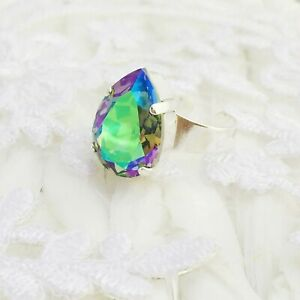 Details about Teardrop Paradise Shine Crystal Ring Made With CRYSTALLIZED™  Swarovski Elements