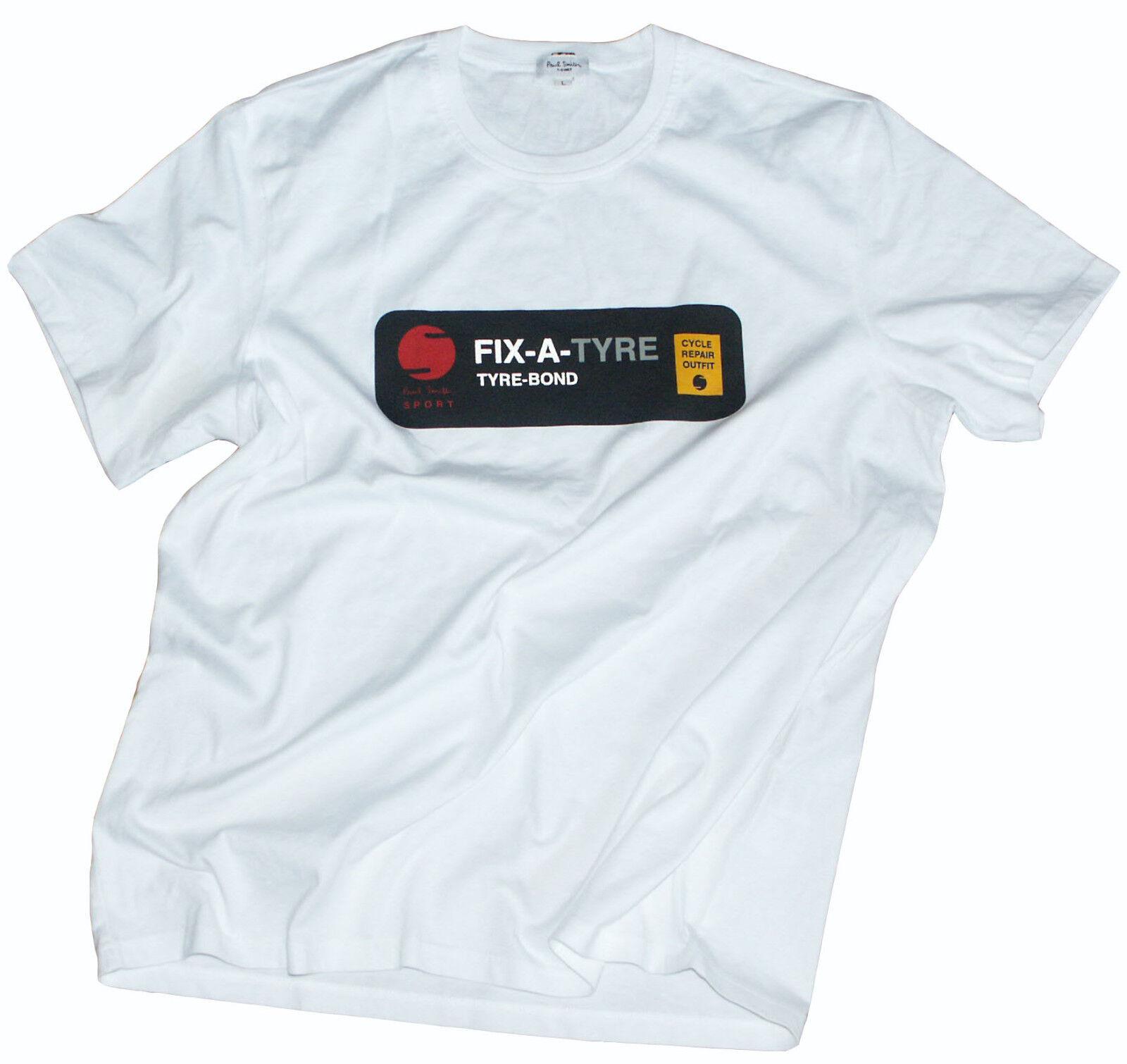 Paul Smith leggero 100% COTONE T-shirt top nuovo con etichetta molto raro SZ-LARGE