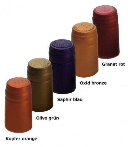10x Schrumpfkapsel für Glas Flaschen Oxid bronze seidenmatt Flaschenkapsel