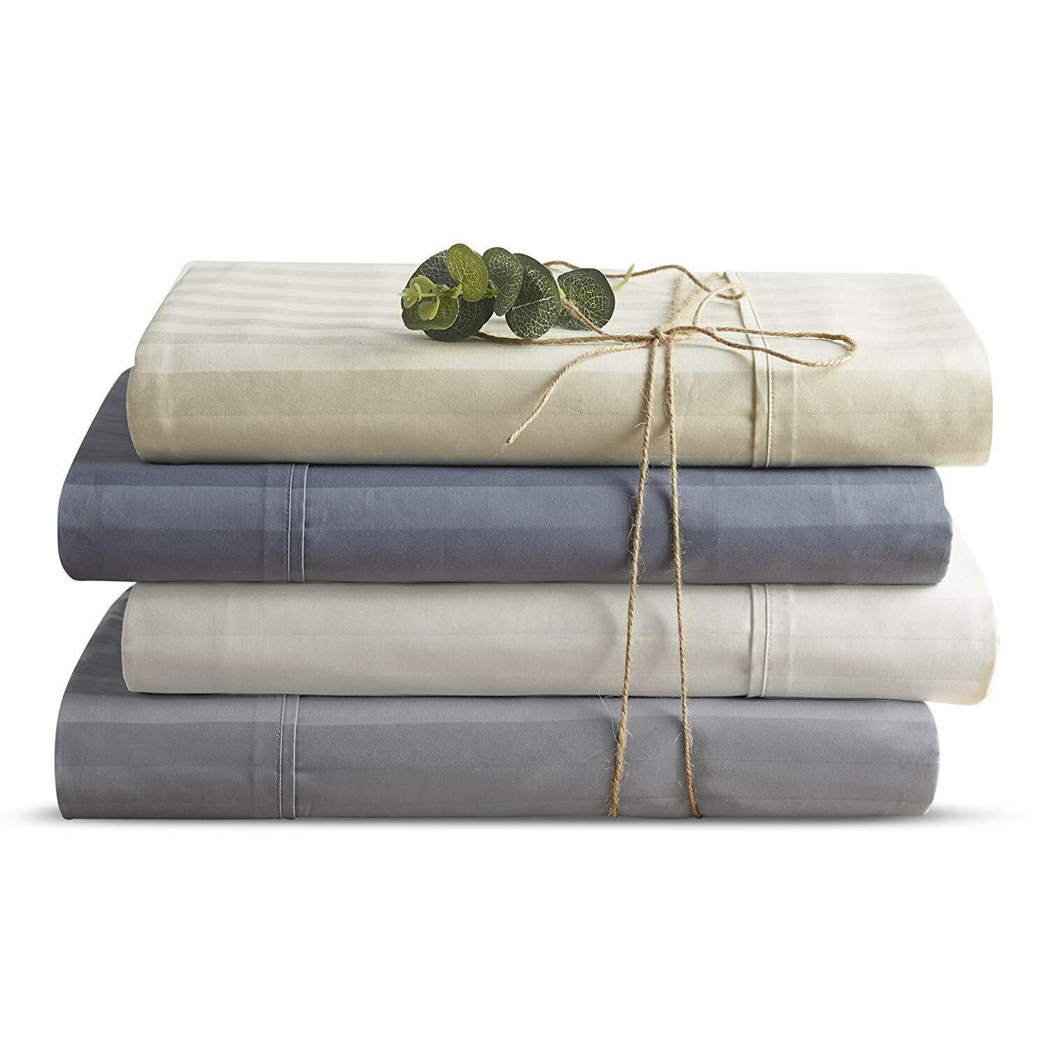 Brielle T300 Cotton Dobby SS Organic Sheet Set NEW