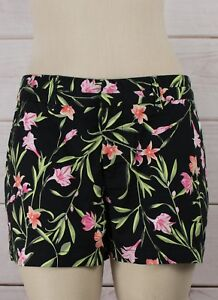 NWT-Womens-GAP-Khaki-Short-Shorts-City-3-Inch-Black-Floral-332743-T12