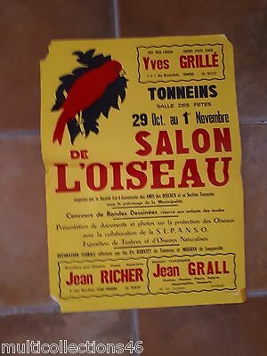 Voorzichtig Affiche - 130617- Tonneins (lot-et-garonne) - Salon De L'oiseau