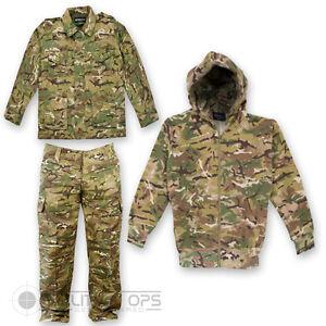 Kids Childrens Mtp Pcs Camo Set Jacket Trousers Hoodie Soldier 95