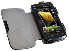 TOUCH HD FLIP CASE PO S421 Genuine HTC in Black Leather with CC Slot, Immed Post