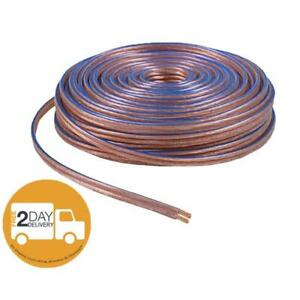 Car-Home-Audio-Speaker-Wire-Transparent-Clear-Cable-12AWG-100ft-12-2-Gauge