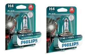 2x-PHILIPS-h4-X-TREME-VISION-MOTO-130-di-luce-POWER-PER-MOTO-XP-12342xv-bw