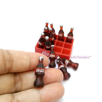 10x COCA-COLA COKE Bottle Dollhouse Miniature Food Soda Beverage Drink Wholesale