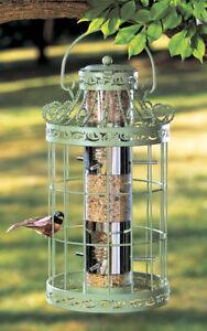 NEW-Hanging-Bird-Feeder-Seed-Metal-Wild-Pet-Outdoor-Garden-Squirrel-Proof-Green