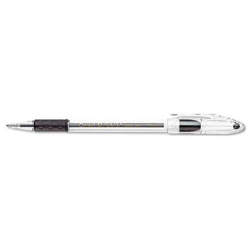 Pentel Rsvp Stick Pen Clear Barrel Black Ink Medium Pen Point Type