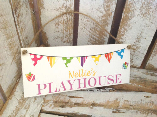 038 HAND MADE SHABBY CHIC STYLE PLAYHOUSE NAME SIGN