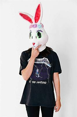 Lisa Frank Rose Bunny Mask latex Halloween 90s nostalgia new White rabbit nwt