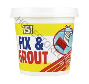 500g-FIX-amp-GROUT-WALL-AND-TILES-CERAMIC-READY-MADE-MIXED-TUB-WATERPROOF-WHITE