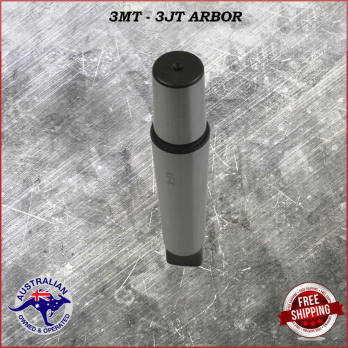 3JT DRILL CHUCK ARBOR HARDENED MT3 JT3 JACOBS MORSE TAPER SHANK 3MT