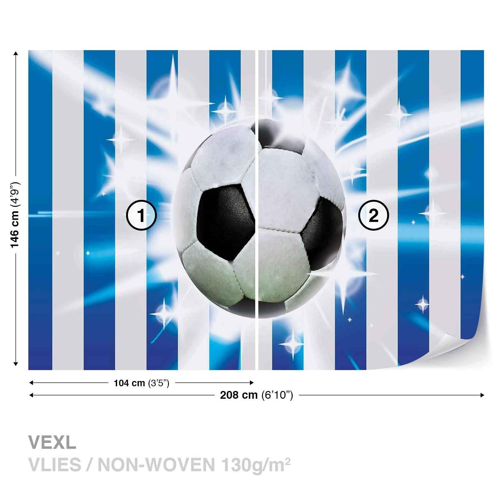 Tapete Vlies Fototapete Fototapete Fototapete Sport Fußball Spiel weiß-blau Streifen Fußballtor Gool 704fec