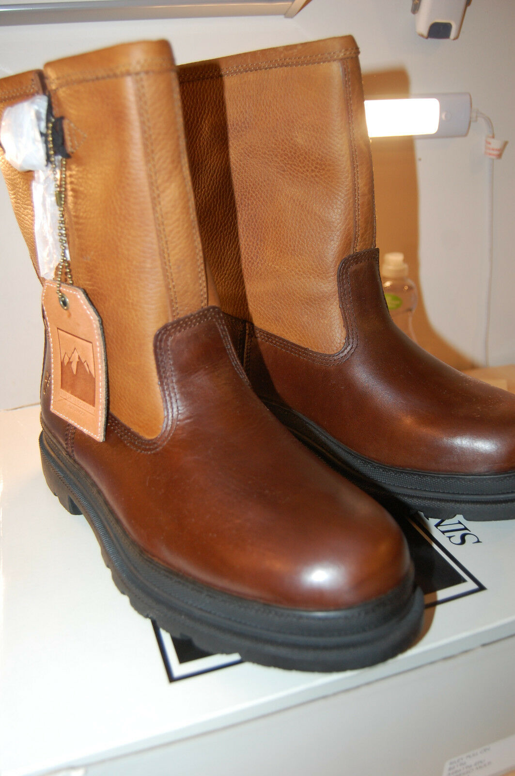 NIB Frye Riley Pull On leather bota Snow winter wool lined Expresso 9.5 M