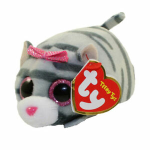 """TY Beanie Boos Teeny Tys 4"""" Cassie the Grey Cat Stackable Plush Stuffed Animal"""