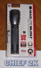 MAGLITE 2-C LED Flashlight Pewter Gray Maglight TWIST ON/OFF ML25LT