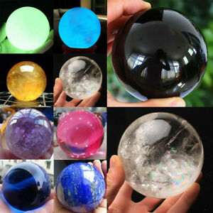 Rare-Natural-Quartz-Magic-Gem-Stone-Sphere-Crystal-Reiki-Healing-Ball-Stone-Lot