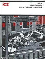 Equipment Brochure Case 480 B Construction King Loader Et Al C1971 E2135