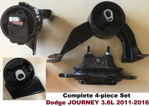 4pc Motor Mounts fit FWD 3.6L 2011-2016 Dodge Journey Engine AUTO Transmission