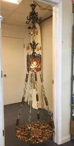 Etonnant Image Is Loading VINTAGE Hollywood Regency HANGING TABLE LAMP  Chandelier Swag