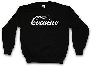 enjoy cocaine sweatshirt sweater pullover fun pablo. Black Bedroom Furniture Sets. Home Design Ideas