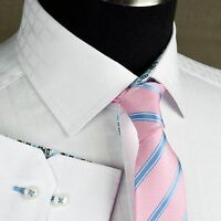 White Checkered Grid Patterned Formal Business Dress Shirt Blue Floral Luxury Gq
