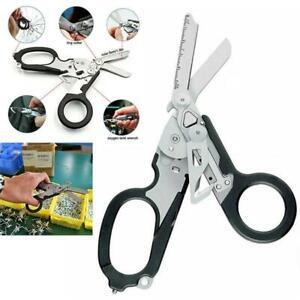 Multifunction Emergency Response Shears Multitool Folding Scissors Pliers NEW