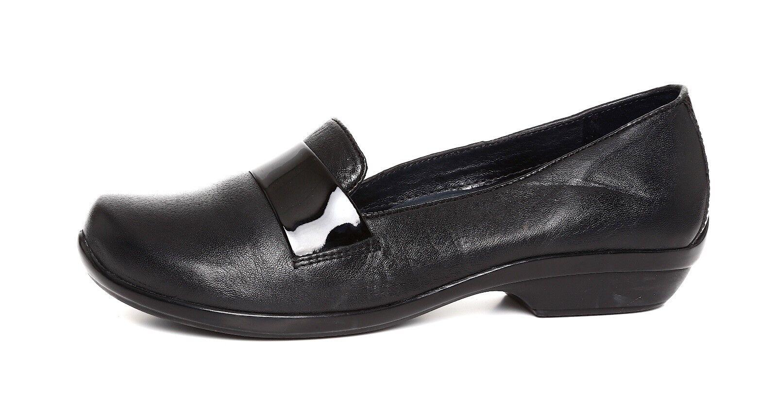 Dansko Oksana Leather 38 Loafer Black Women Sz 38 Leather 55b830