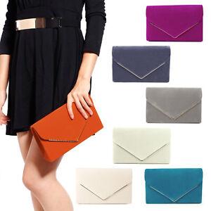Boutique en ligne 80f9b 42569 Detalles de Bolsos de Mano Cartera para Mujer Tipo Clutch Sobre Terciopelo  Fiesta Boda #972