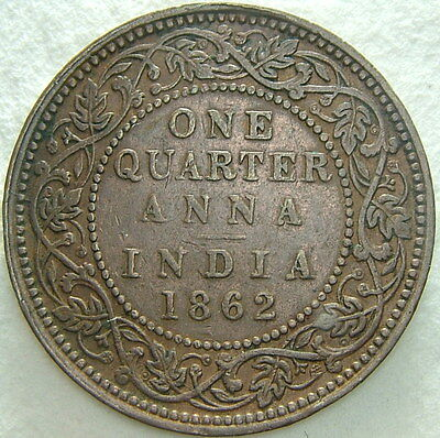Aggressive 1862 United Kingdom India One Quarter Anna