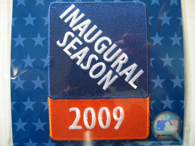 MLB NY Mets Stadium Inaugural Year Patch Authentic 2009