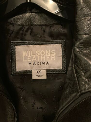 Wilson's leather Black Leather Jacket Xs