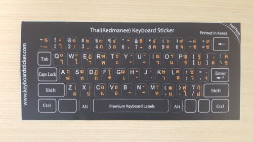 Thai Keyboard Sticker 5 Various Color