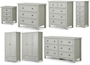 Image Is Loading Maine Dove Grey Bedroom Furniture Range Bedside Chests