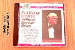 Mozart-Concertos-Piano-n-9-amp-27-Live-Richter-Britten-Maazel-CD-AS-Disc