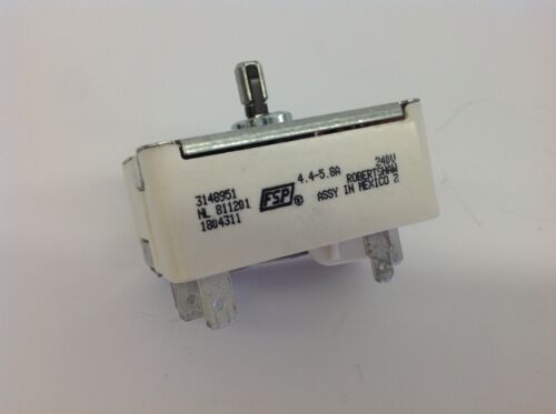 Whirlpool Range WP3149404 Small Top Burner Control Switch PS11740785 AP6007668