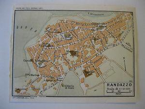 Stampa Cartina Sicilia.Stampa Antica Mappa Pianta Carta Topografica Sicilia Randazzo 1940 C Ebay