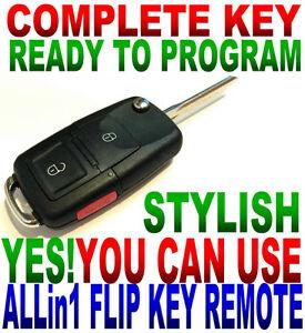 R8 STYLE FLIP KEY REMOTE FOR TOYOTA GQ43VT2OT CHIP-G KEYLESS ENTRY FOB CLICKER