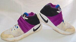 6e7e6c190b71 Youth Boys White   Purple NIKE KYRIE 2  Kyrache  Sneakers Shoes Sz 4 ...