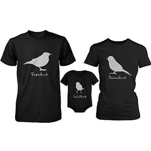 Papa bird mama bird hatchling matching tops family t for Baby onesie t shirt